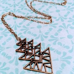 Handcrafted by me - Brass Arrow Necklace